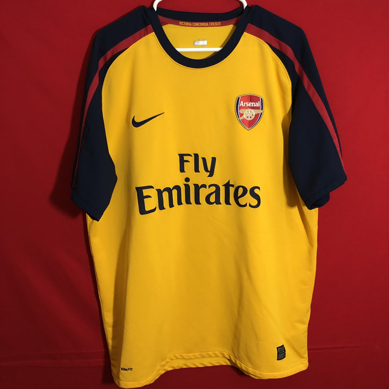 hot sale online f0e28 d980b Yellow Nike arsenal soccer jersey Awesome condition... - Depop