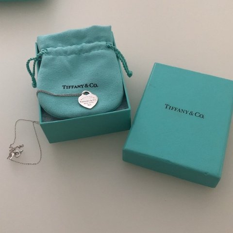8b6227f836 Genuine tiffany and co heart necklace 16 inch chain - Depop