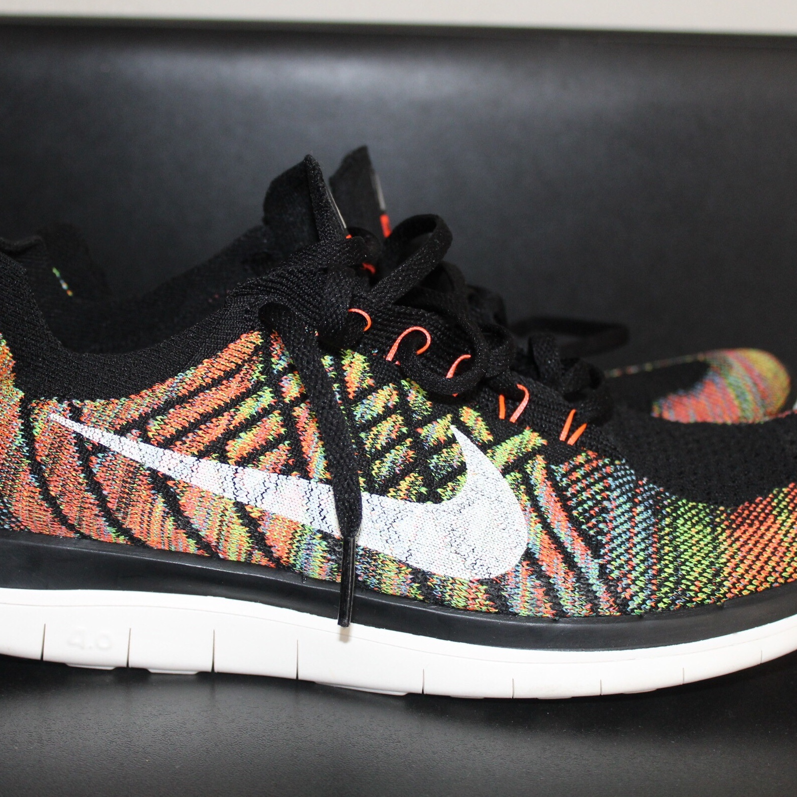 best website 8ce1c 00272 NIKE FREE 4.0 FLYKNIT MULTICOLOR MENS SIZE 11.5 ...