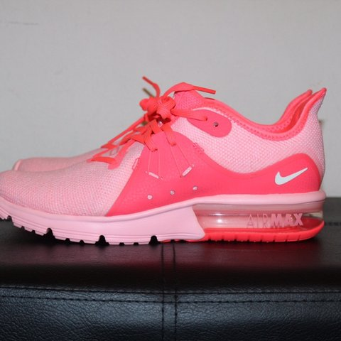 3929c7932bdc3 Nike Air Max Sequent 3 Women s Size 8.5 Hot Punch   Pink - Depop