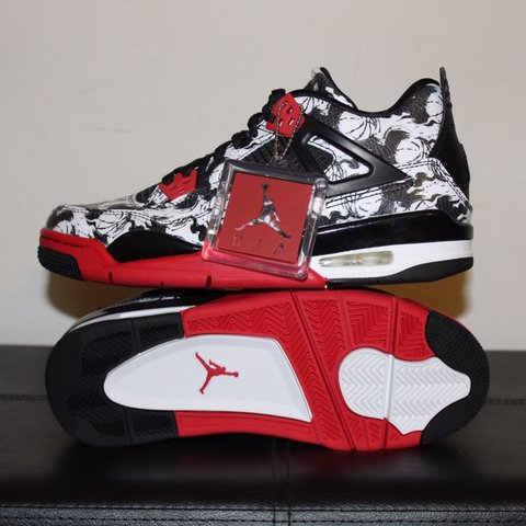 dd1f0e8055b9 NIKE AIR JORDAN 4 RETRO SINGLES DAY   TATTOO BV7451-006 7Y - Depop