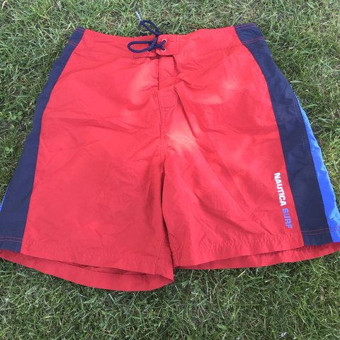 ba2a32325 @ebarkley93. 4 months ago. Des Moines, United States. Nautica Surf 83 Swimming  Trunks Red/Blue/White Vertical Stripes