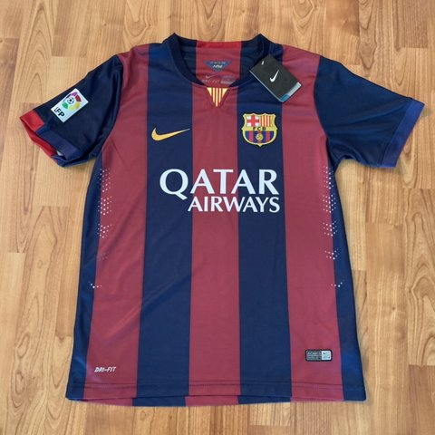 772aab0891f Nike Barcelona Qatar Airways 2014 kit jersey New with  nike - Depop