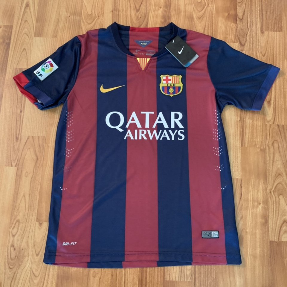 Nike Barcelona Qatar Airways 2014 Kit Jersey New Depop