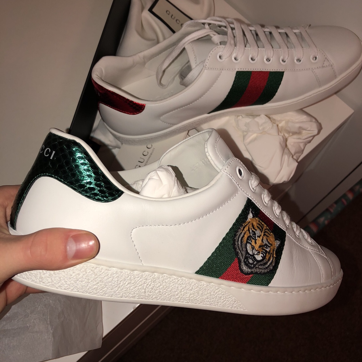 Size 8 Gucci Ace Sneakers Recipts