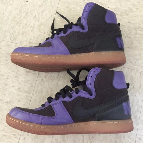 super popular 2626a f58f6  sharkshop808. last year. Honolulu, United States. Black and Purple Nike  shoes with gum sole.