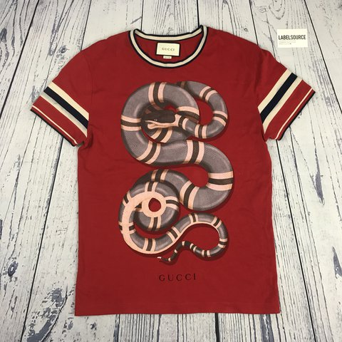 5a6a4627 @label_source. last year. Hornchurch, United Kingdom. Gucci snakes t-shirt  ...