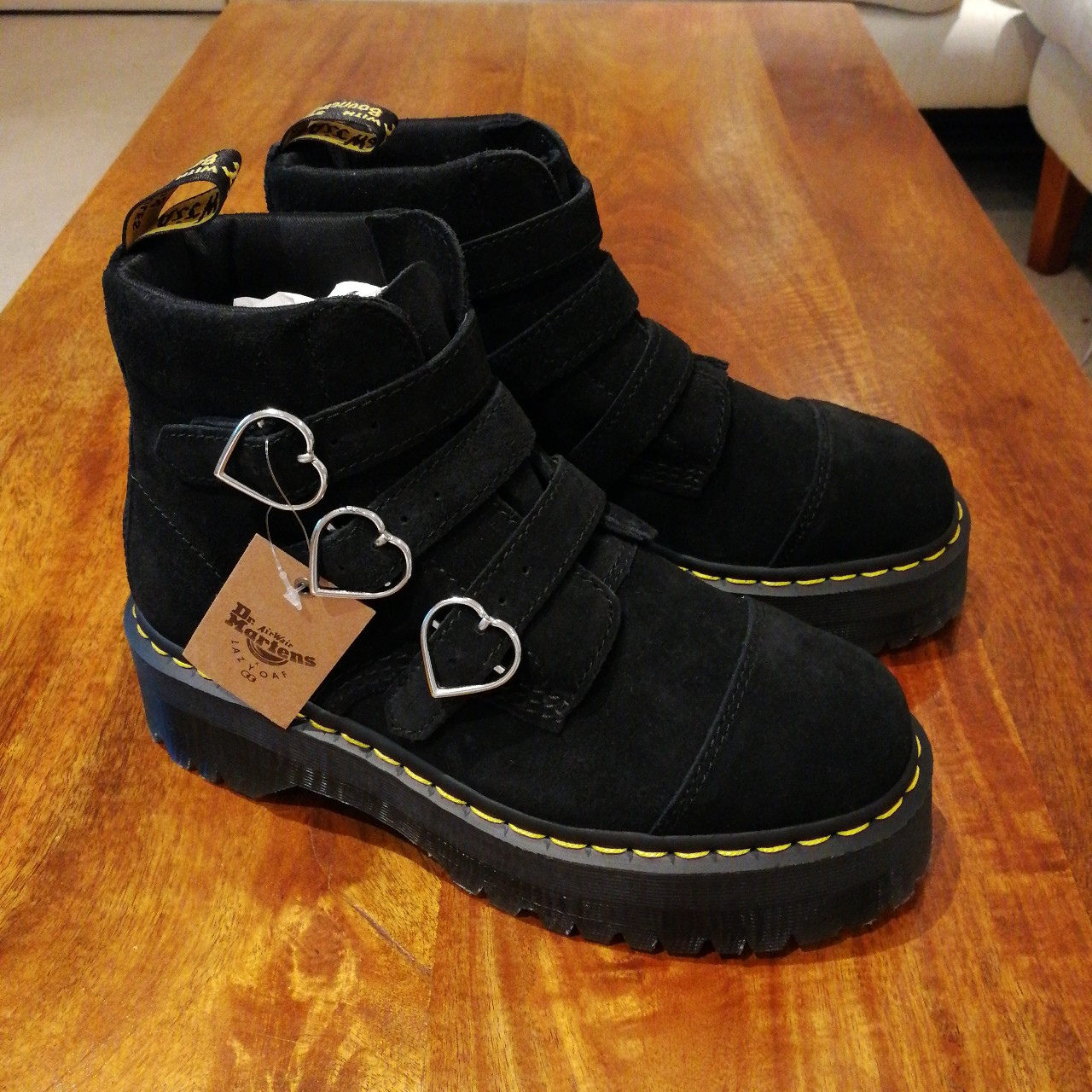 doc martens lazy oaf buckle boot