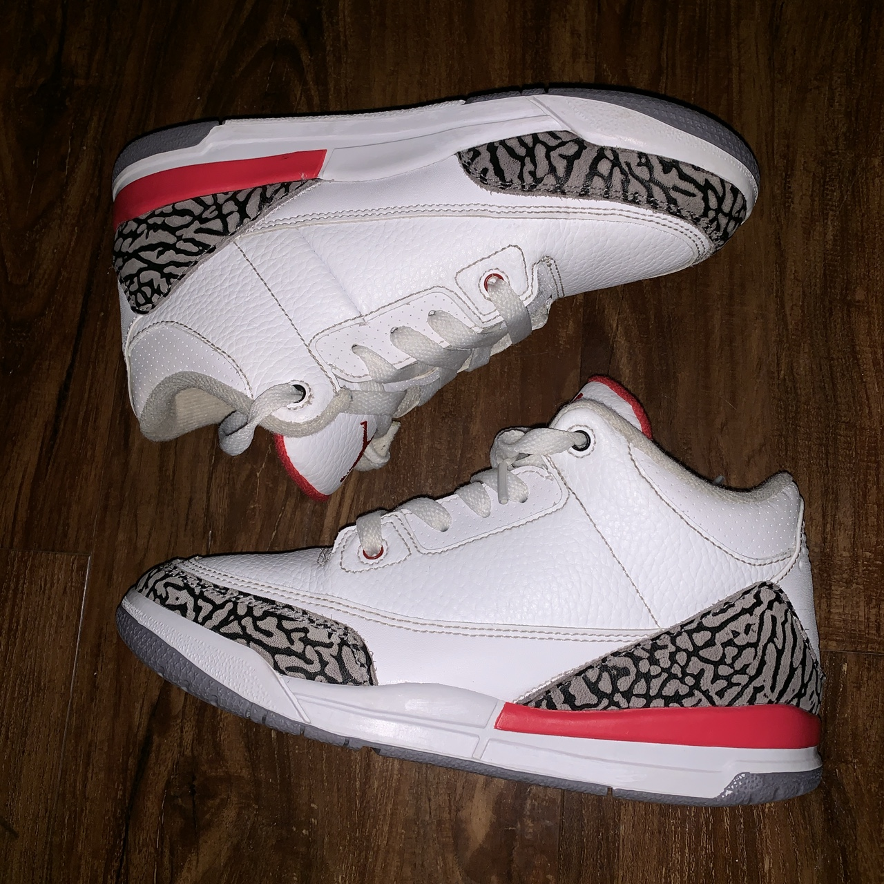 low priced 39274 b0329 AIR JORDAN 3 KATRINA Retro 3 Kids Size 2.5y great... - Depop