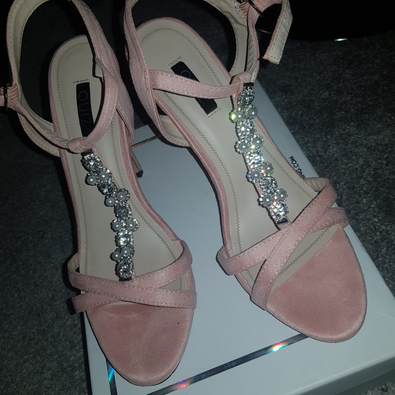 Quiz Shoes - Pink with Diamonte Worn