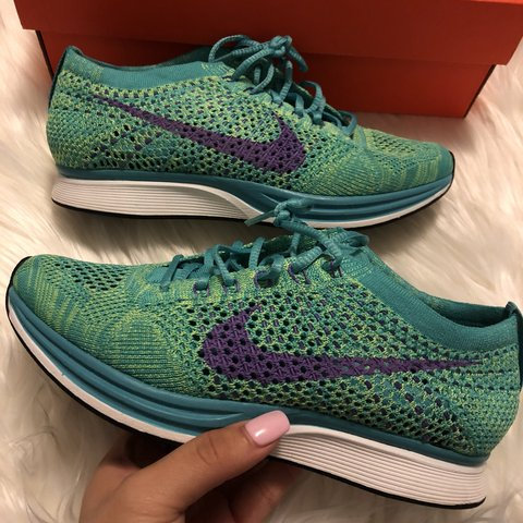 low priced cd6f5 6fe7c  diana12913. 8 days ago. New York, United States. Nike flyknit racer size  6.5 women or 5 men. In sport turquoise hyper grape-volt.