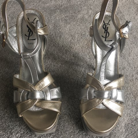 59c63961fd1 @michelelee. 3 years ago. Chigwell, Essex, UK. YSL Tribute 105 gold and  silver. Worn once cost £795