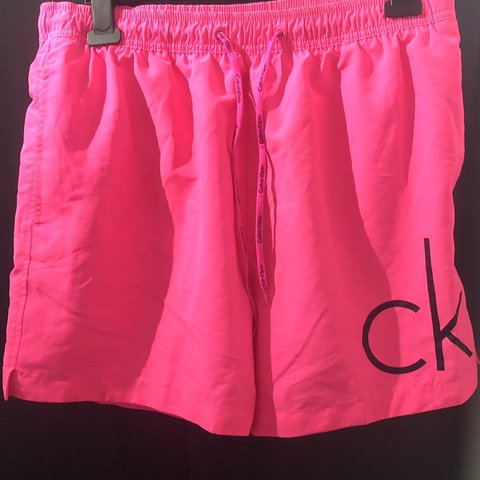 5eec73030f @tylerayling. 2 months ago. Bognor Regis, United Kingdom. Calvin Klein  swimming shorts in bright pink ...