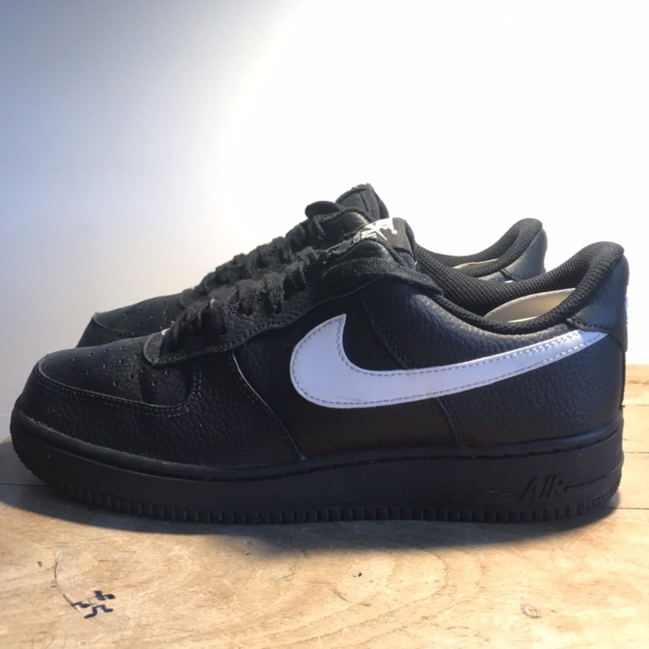 online store a95e6 b0333 Black and REFLECTIVE white nike Air Force 1 Sick shoe v 8.5 - Depop