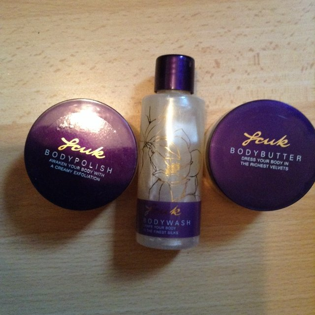 9ac276635d4 fcuk body butter, body polish and body wash. £5. none of as - Depop