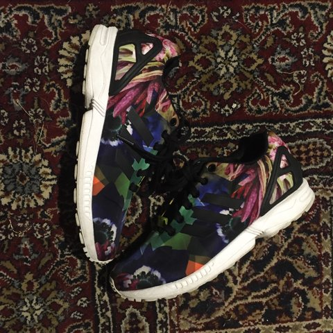 c4e9f69bf Adidas ZX Flux Barcelona Floral Torsion City Pack Limited UK - Depop