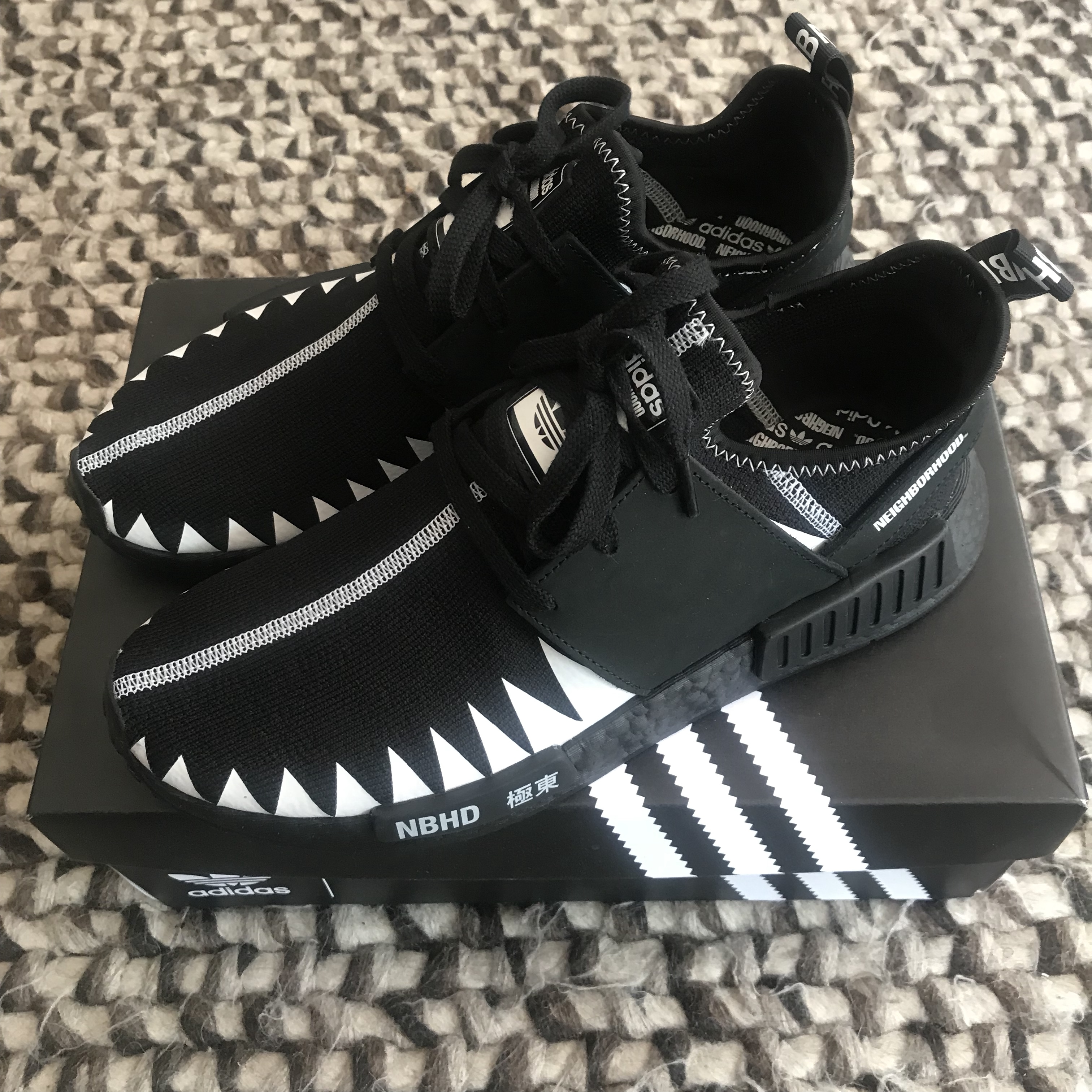 timeless design ef697 30b54 Adidas X neighborhood nmd R1 pk UK 9/ us 9.5 Brand... - Depop