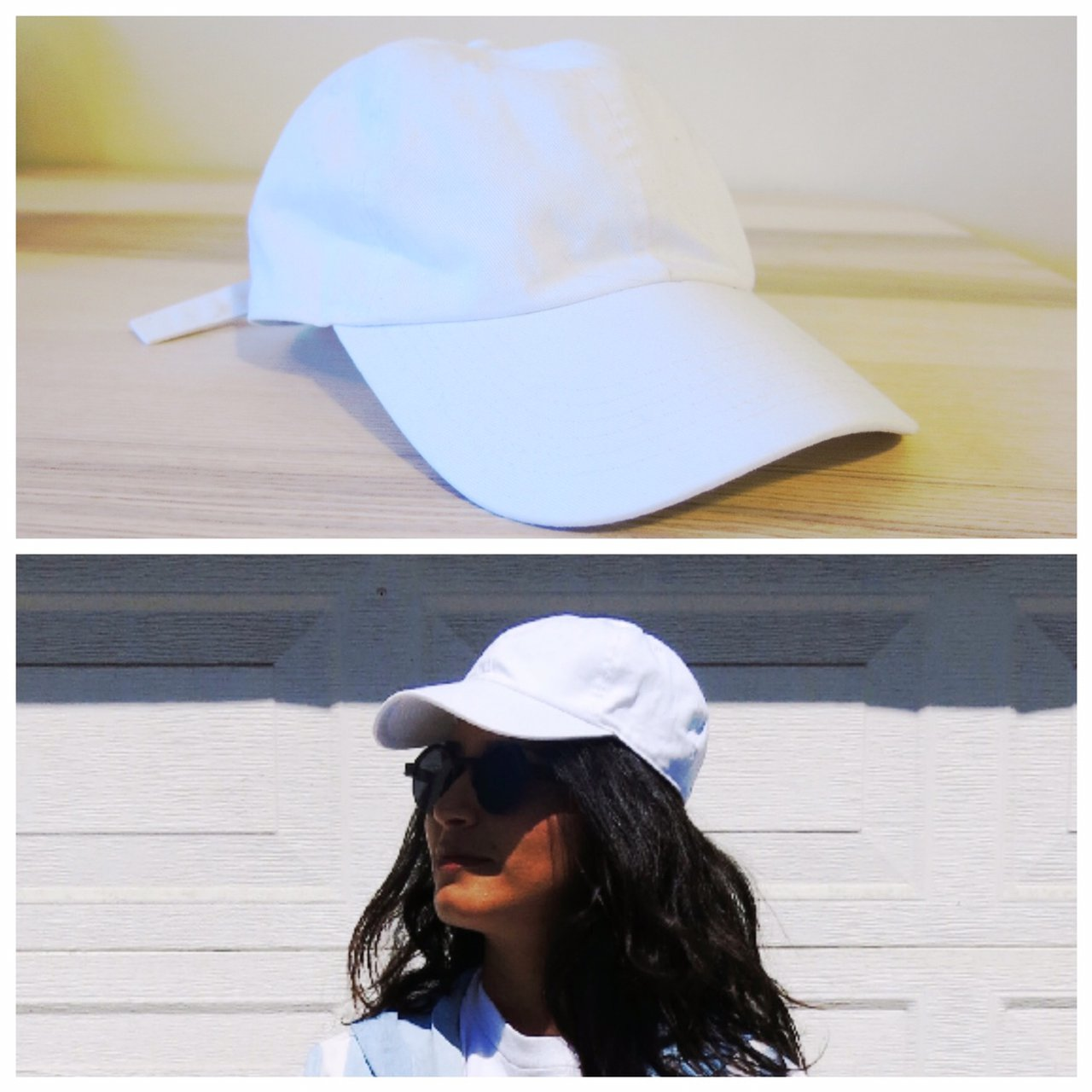 98232db9894 J. Galt Simple White Dad Hat Baseball Cap This hat is so of - Depop