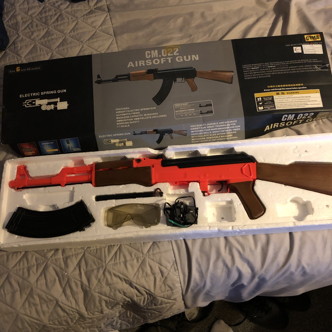 CM 022 AK47 airsoft rifle Powered by a charged    - Depop