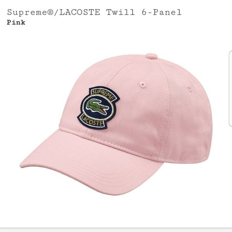 a8a8d53112c Supreme Lacoste hat pink London meet or PP g and s - Depop