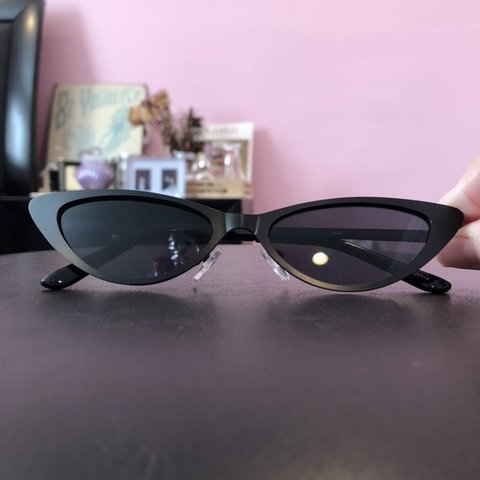 0581efeb1 Super cute black cat eye sunglasses 💕 NEW💕 matte black 💕 - Depop