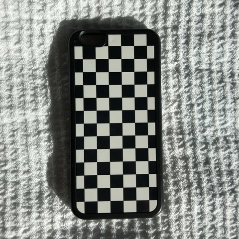 reputable site aa123 52b44 iPhone 6 case - Black and White Checkered Lightly... - Depop