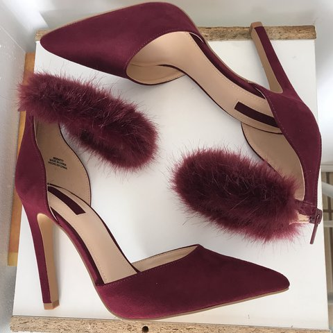a31cc9621 Cute wine colored heels from Forever 21. Never Worn. Size $6 - Depop