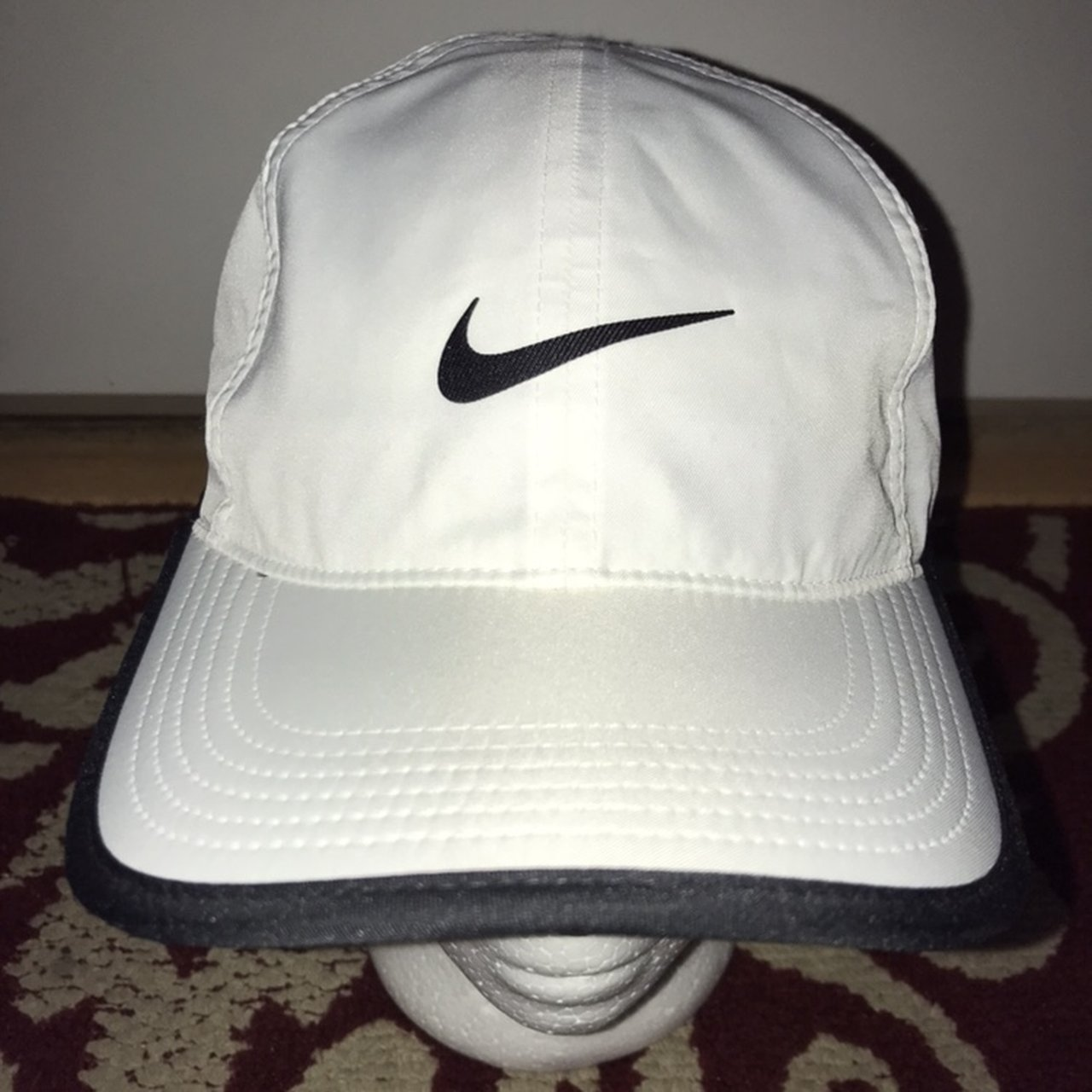 White Nike strap back hat Great condition.  nike  hat - Depop 368f160a603