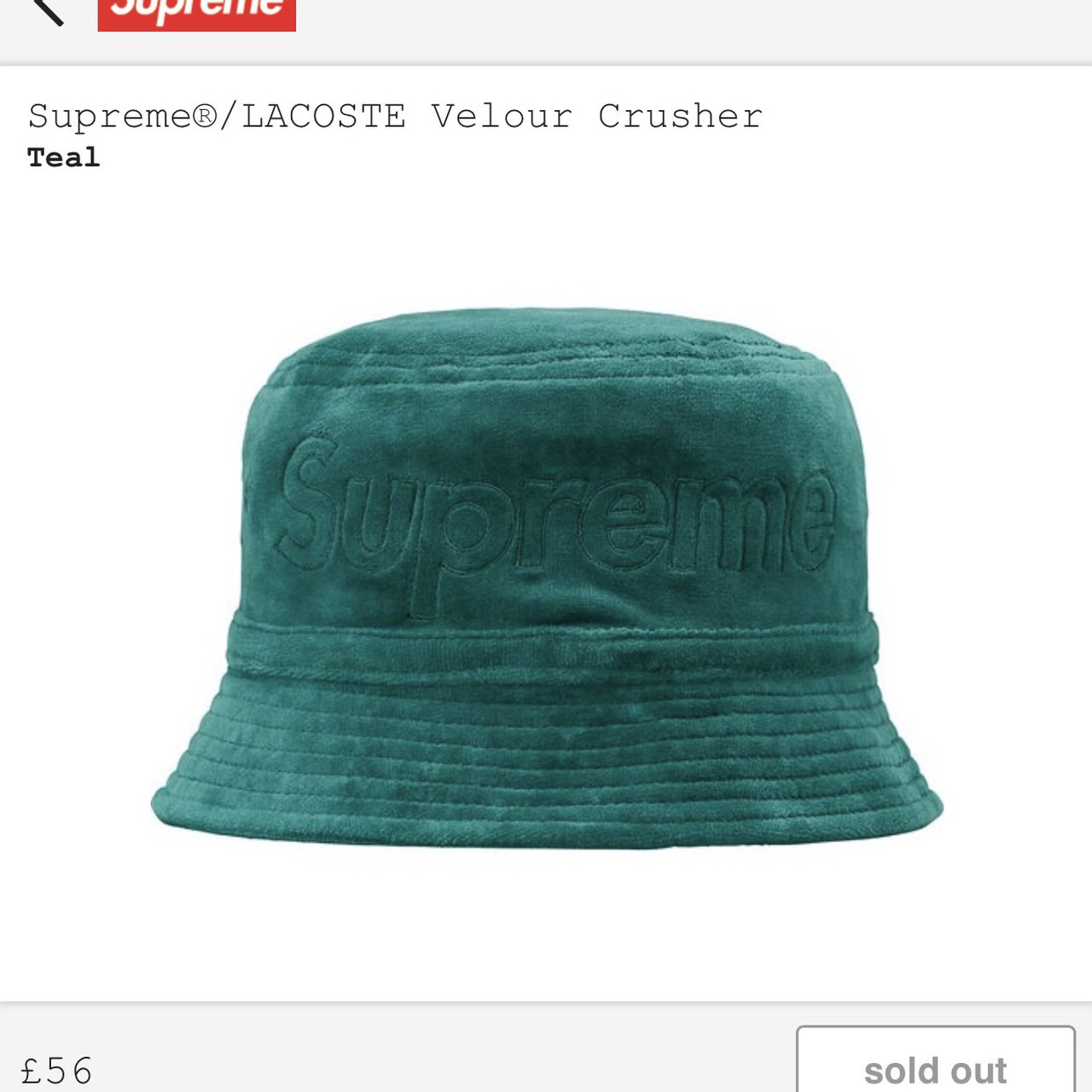 Supreme Lacoste Green Bucket Hat - M L Sold Out immediately - Depop 404c9419f089