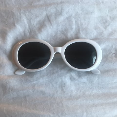 6d50d03ea62 CLOUT GLASSES!! White oval glasses. One Size fits all. Step - Depop
