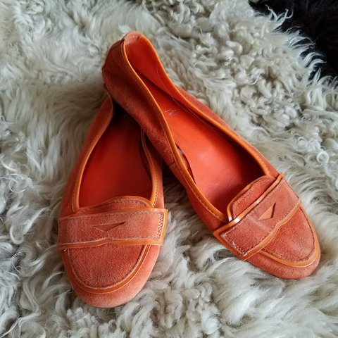 17aaf48ac0a Vintage Shoes By andrē. Super cute orange flats. Made out - Depop