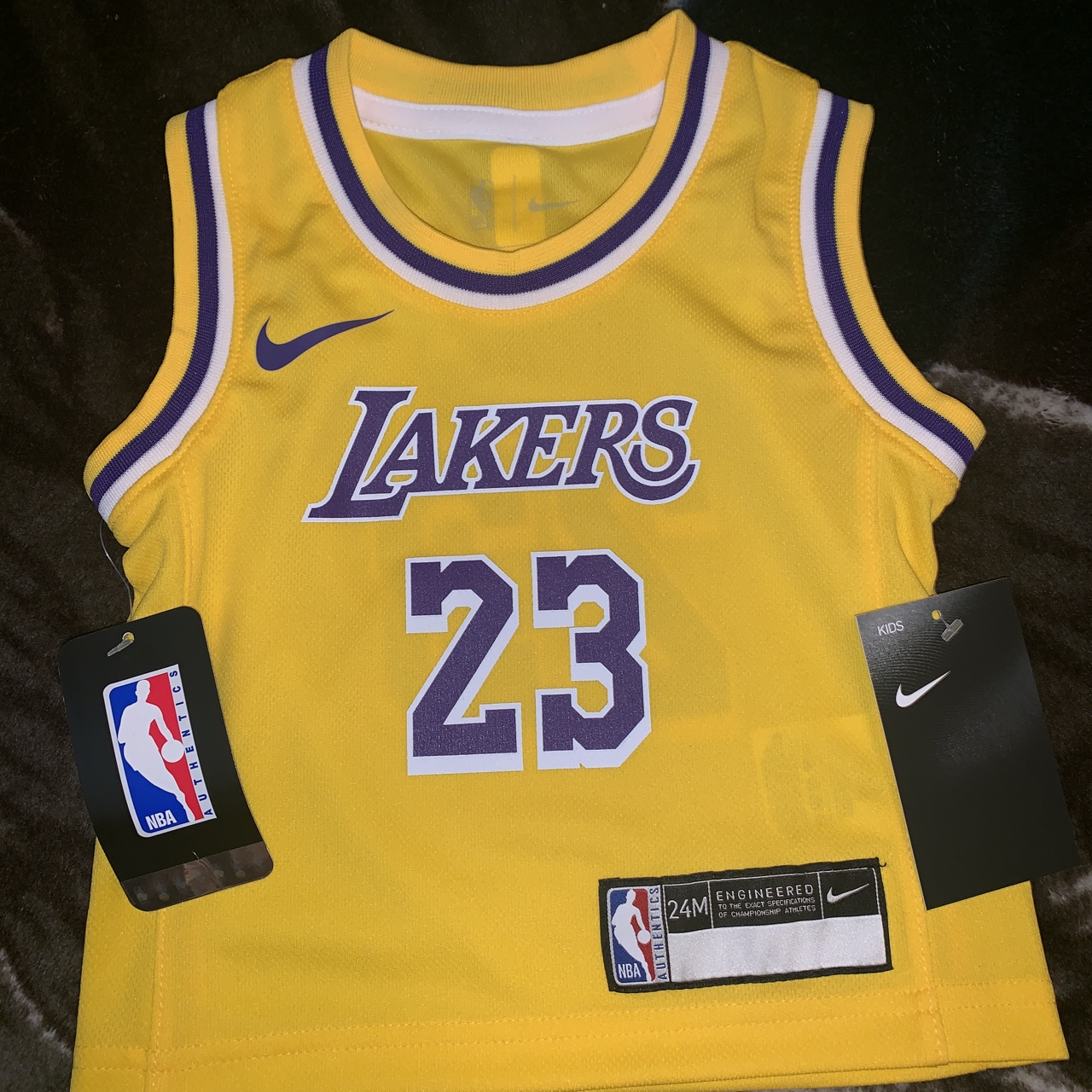 factory price 4e7df 5b53b Toddler Nike Los Angeles Lakers lebron Jersey size... - Depop