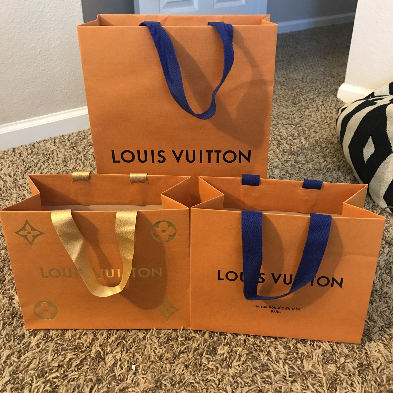 f12672bb419 Assorted Louis Vuitton shopping bags FREE SHIPPING... - Depop