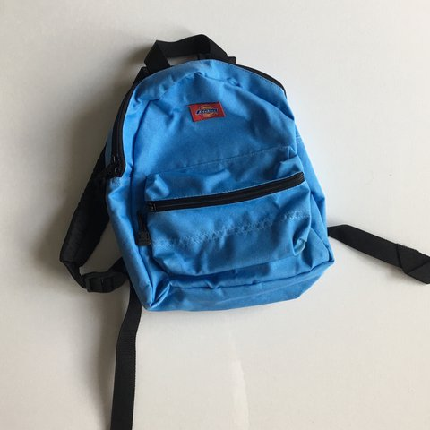Rad AF baby blue Dickies mini backpack!🙌🏻 has ajustable on - Depop 68a67bb3044d9