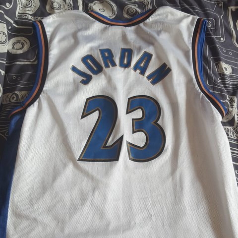 3285904fda6 Vintage Champion Michael Jordan Washington wizards jersey - Depop