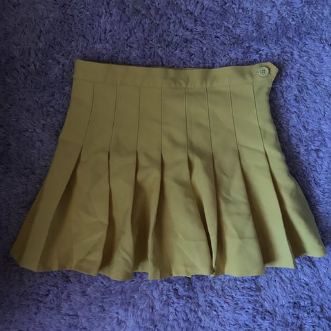0fa2655c23ee @blitheboom. 6 months ago. Savannah, United States. WHITE PLEATED TENNIS  SKIRT Super cute yellow skirt similar to the american ...