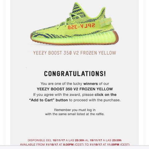 b5f77e978af Adidas Yeezy Boost 350 V2 Semi Frozen Yellow   Raw Frozen - Depop