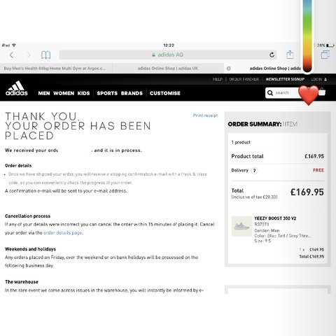 0d5a26ab6414 Bought of Adidas website