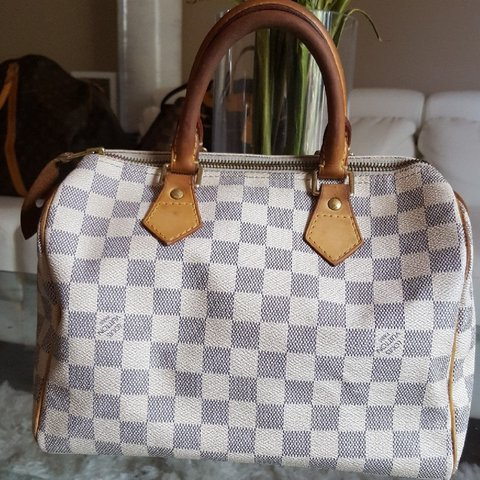 1af15bf2a0d1 Authentic Louis Vuitton Speedy 25 Damier Azur Pre-owned. In - Depop
