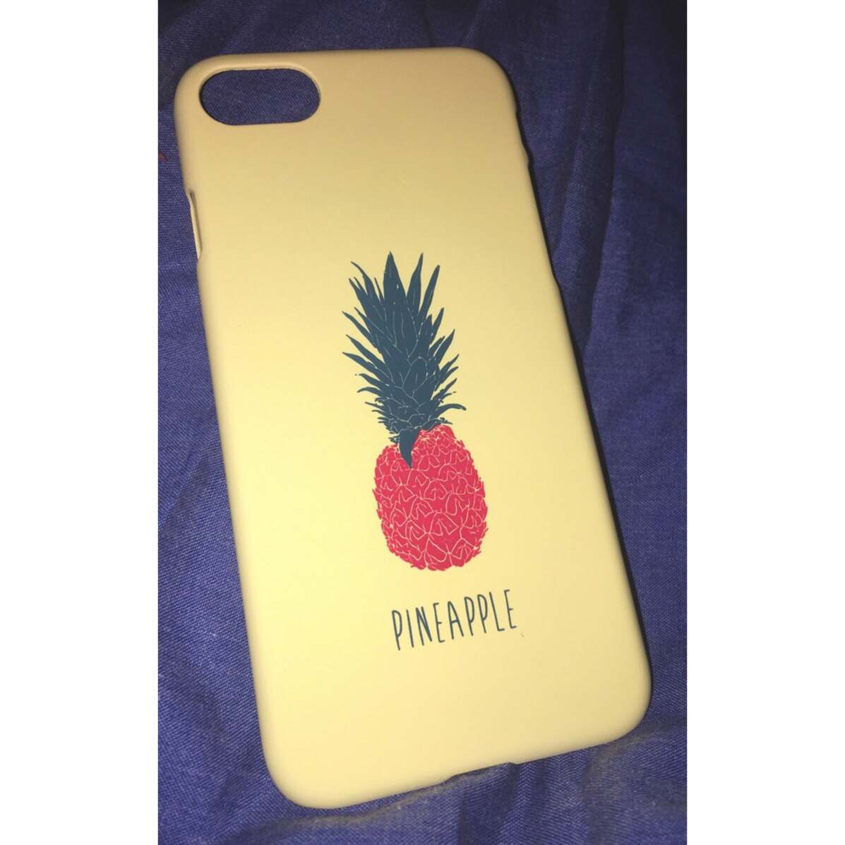online store 14b61 c95c6 IPhone 6/6S Pineapple Phone Case. Pastel yellow with... - Depop