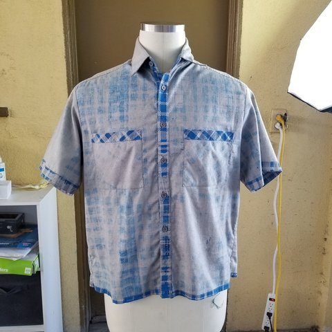 d81ae32b Lewis Scott Sample! Reverse cut aloha inspired short up a - Depop