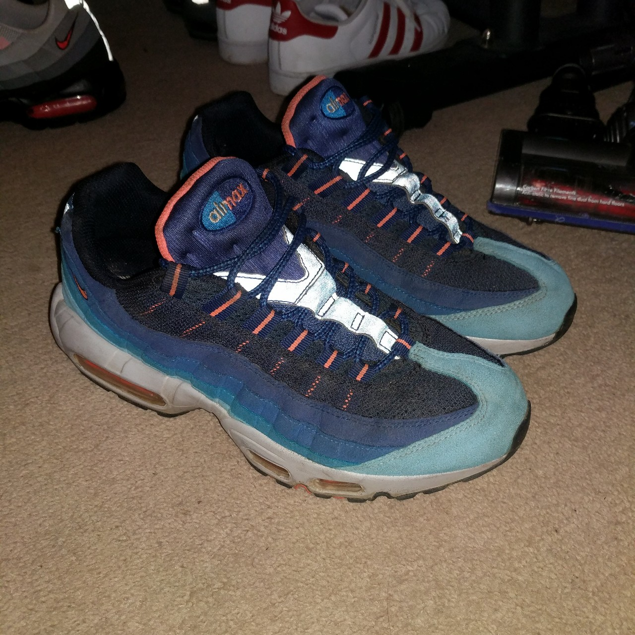 the best attitude 905bc 4d498 Nike air max 95s 95 TN mango cw size 7.very rare... - Depop