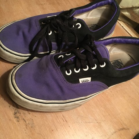 I have a cool black and purple schemed vans shoe that I m be - Depop 46581e98d