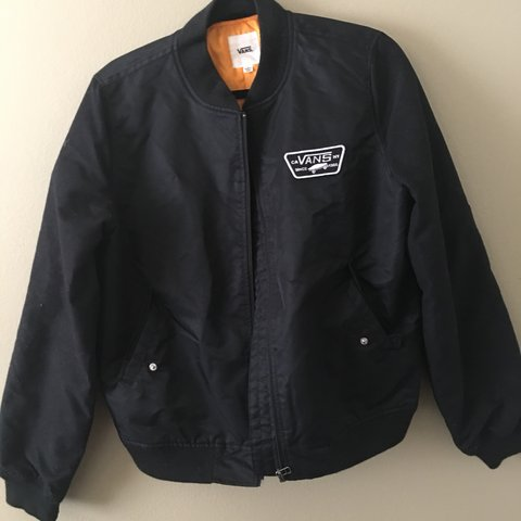 fa0ec8d57f3764 Vans bomber jacket! Can be worn by men and woman! Only worn - Depop