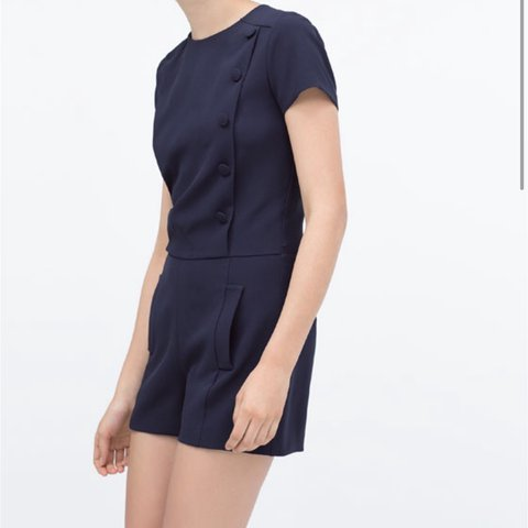 f8822e45726 Zara navy playsuit Size XS. Never been worn. Perfect - Depop
