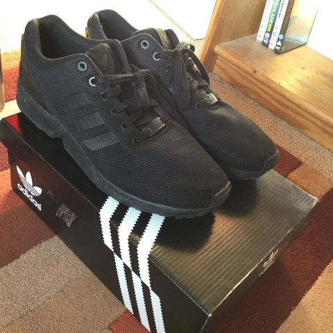 3a80c4d43ef03 ... coupon adidas zx flux triple black trainers shoes. as seen on kanye  depop 6521b b6fb1