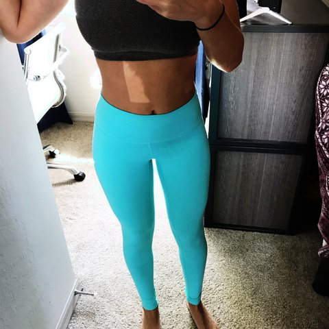 17eea51937ce1 @klroesl. last year. Miromar Lakes, United States. Aqua blue 'Till You  Collapse leggings! These are super cute ...
