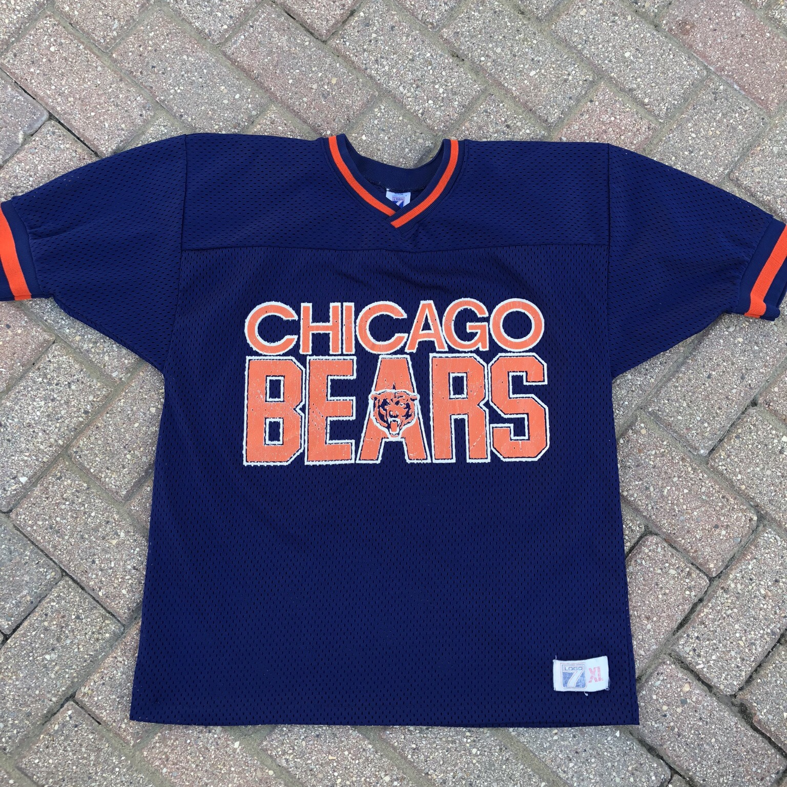 new style f4993 0b155 VINTAGE 90s LOGO 7 CHICAGO BEARS JERSEY! This piece ...
