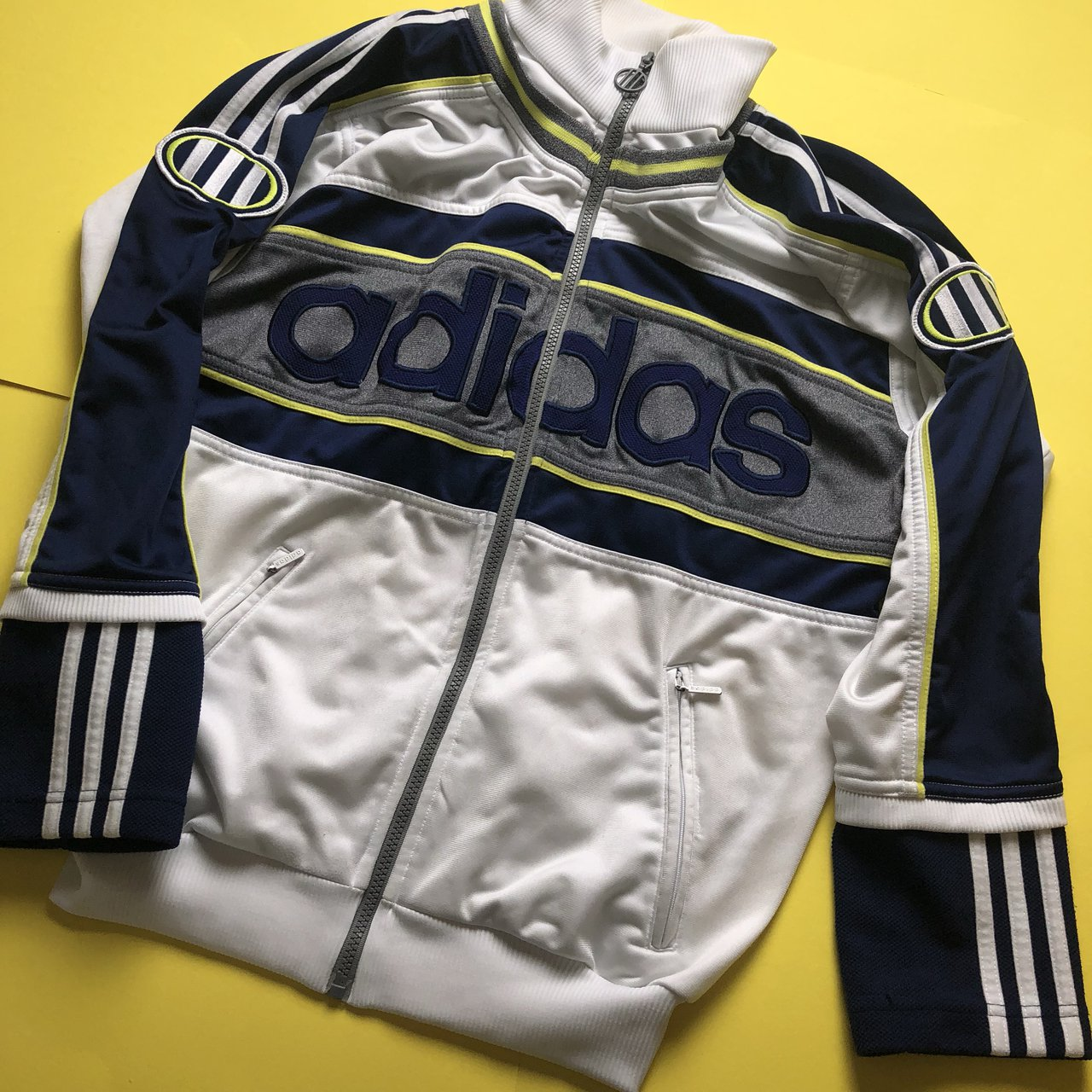 Vintage Adidas tracksuit top - amazing spell out Adidas - - - Depop 5ec8ca5f0e