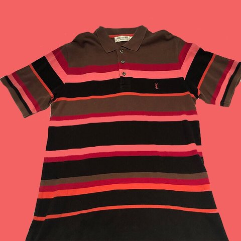 8fba8274 @arkidvintage. 4 months ago. Liverpool, United Kingdom. Vintage YSL striped  polo shirt - a lovely bright and colourful Saint Lauren ...